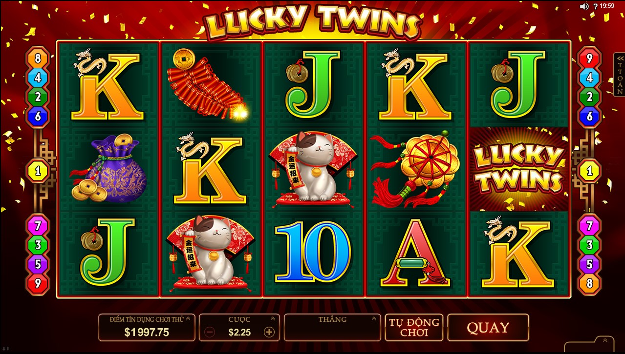 lucky twins microgaming w88